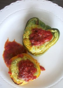 DINNER-PAL polenta stuffed peppers