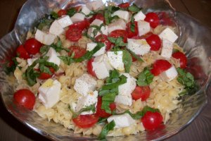 DINNER-PAL Pasta Mozzarella Tomato Salad