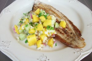 DINNER-PAL Sole With Mango Couscous Salsa