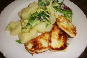 DINNER-PAL Honey Melon Halloumi Salad